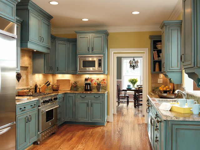 Grandmas Kitchen On Pinterest Turquoise Cabinets